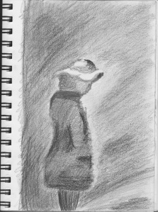 Copy of a Seurat Drawing Plate, pencil